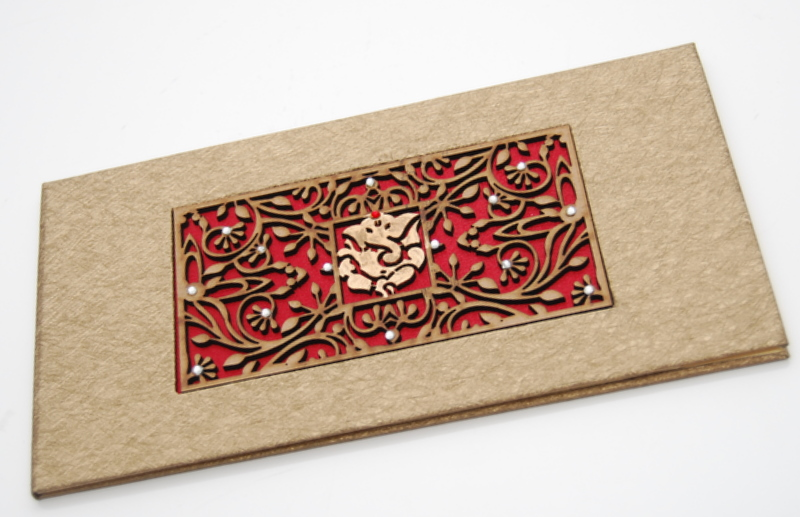Engraved Wood With Red Satin