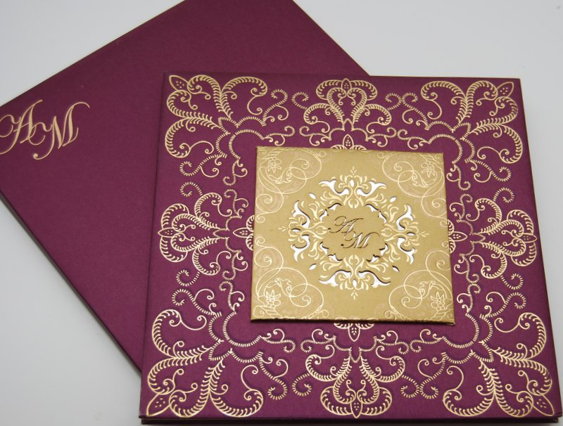 mulberry opulence - Muslim Wedding Cards
